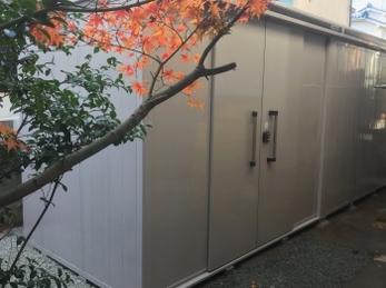 ずっと、裏庭が使えればと思っていました。これで家で整理ができます。