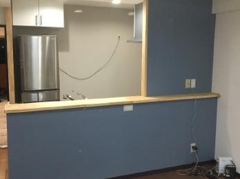 とても明るく理想のキッチンができました。